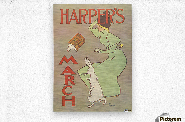 Harpers March Edward Penfield Mini Poster  Metal print
