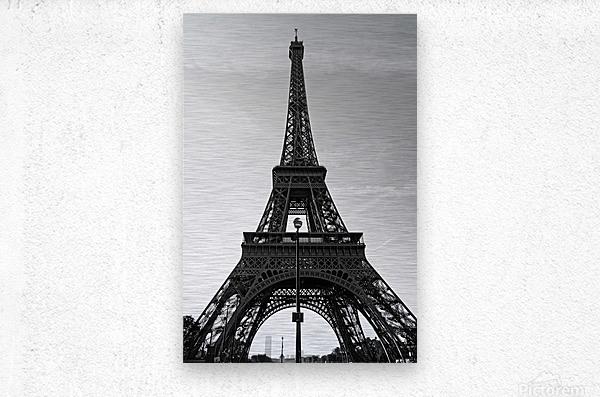 Eiffel tower in black   Impression metal