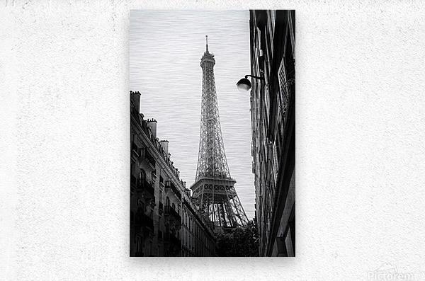 Under the Eiffel tower   Impression metal