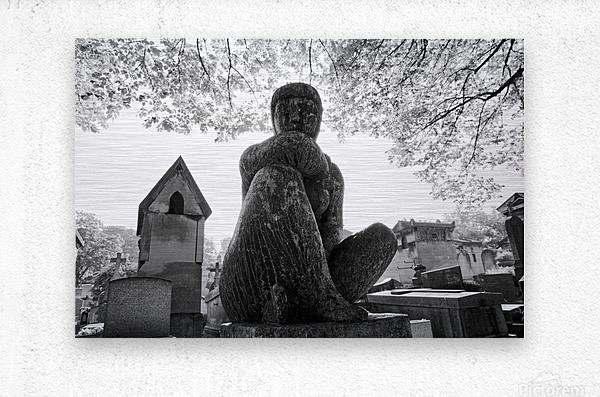 Pere-Lachaise statue  Impression metal