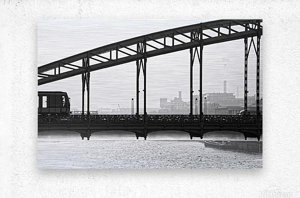 Austerlitz viaduct  Impression metal