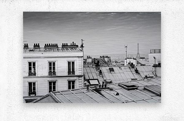 Roofs of Paris   Impression metal