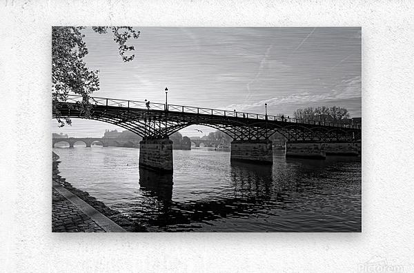 Pont des arts sunrise  Impression metal