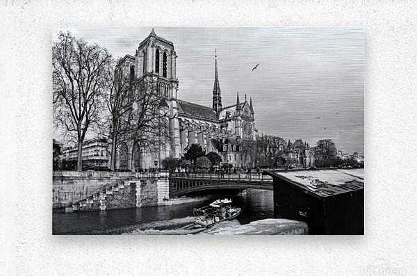 Parisian river police  Impression metal