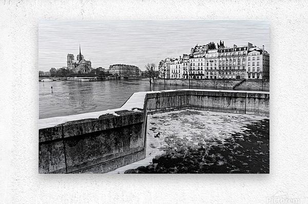 Snowy bridge                          Impression metal