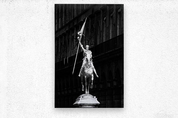 Joan of Arc statue   Impression metal