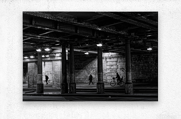 Brancion tunnel  Impression metal