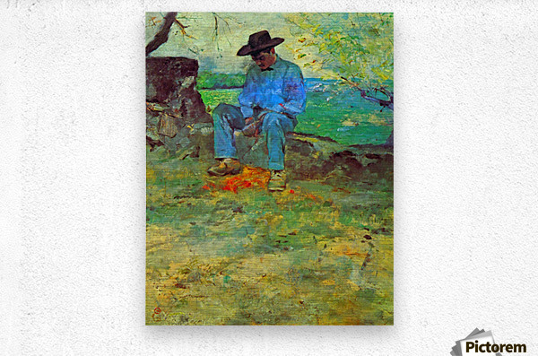 The Young Routy in Celeyran by Toulouse-Lautrec  Metal print
