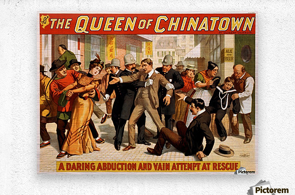 The Queen of Chinatown, 1899  Metal print
