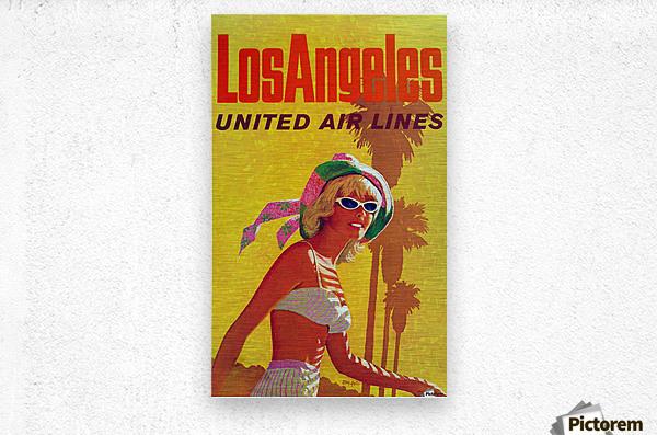 Los Angeles United Air Lines  Metal print