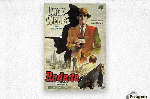 Film Noir Poster - Dragnet  Metal print
