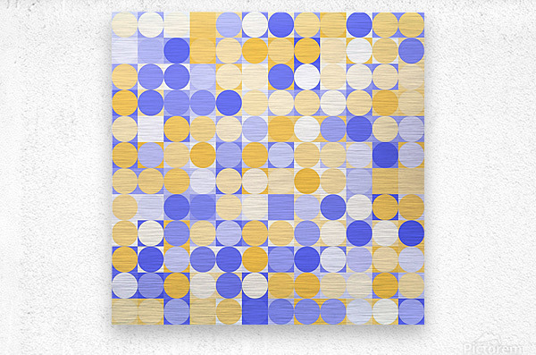 Geometric Art pattern  Metal print