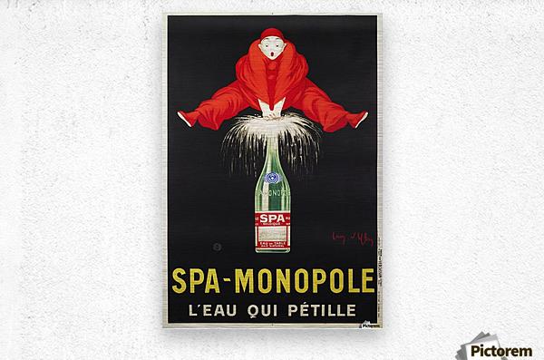Spa-Monopole - Leau qui petille  Metal print