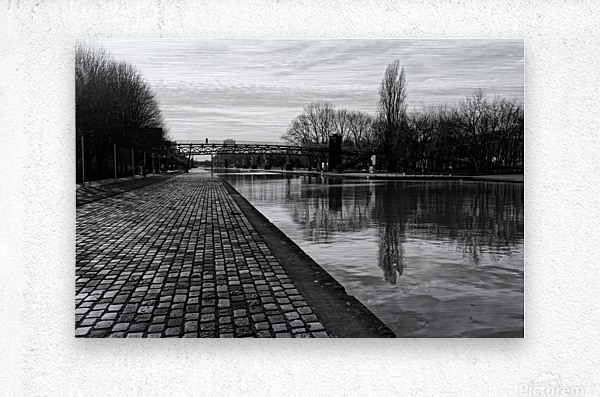 Ourcq canal  Impression metal