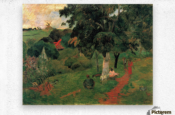 To and Fro by Gauguin  Metal print