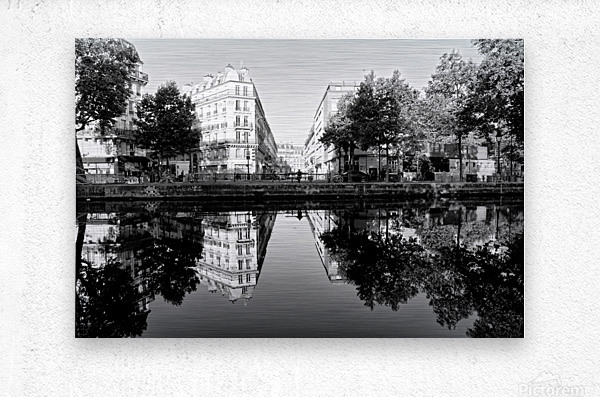 Canal Saint Martin reflection  Impression metal