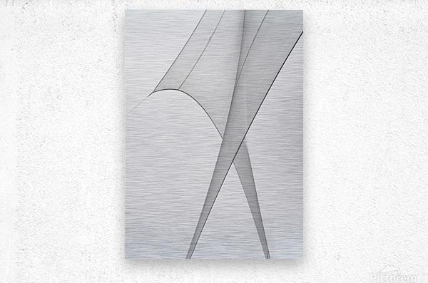 Abstract Sailcloth 3  Metal print