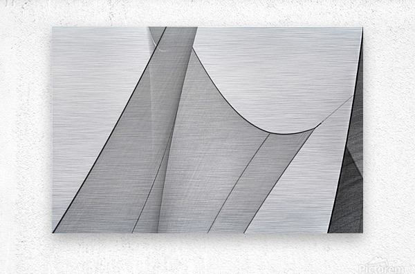 Abstract Sailcloth 8  Metal print