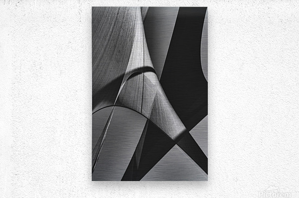 Abstract Sailcloth 16  Metal print