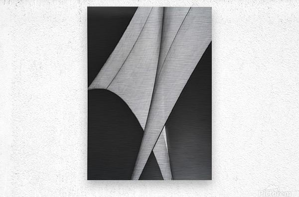 Abstract Sailcloth 9  Metal print