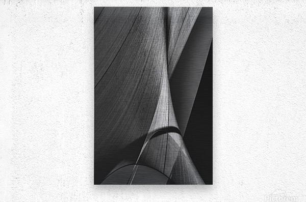 Abstract Sailcloth 17  Metal print