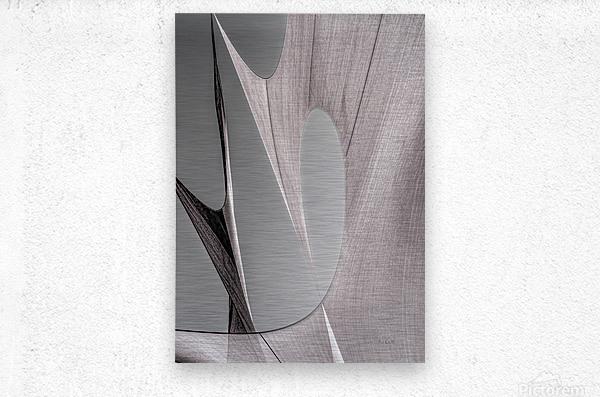 Abstract Sailcloth 20  Metal print