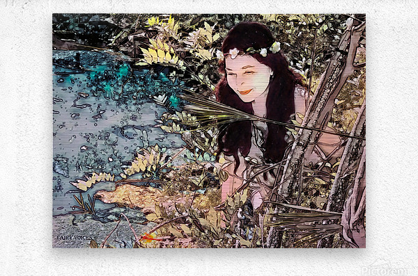 FAIRY AND THE LAKE  Art-Photo 1-4   Metal print