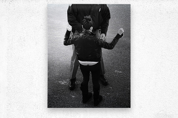 Detain and Search 2  Metal print