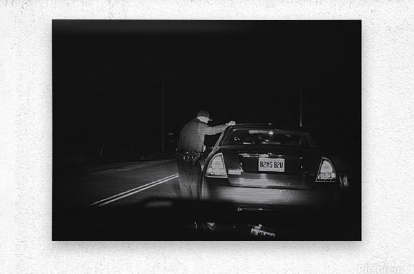 Late Night Traffic Stop  Metal print
