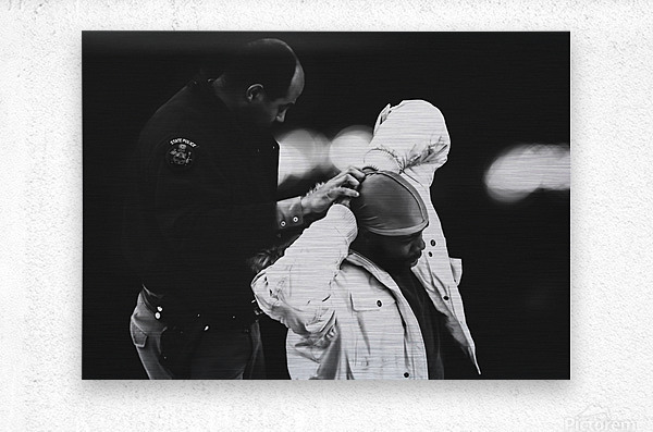 Detain and Search  Metal print