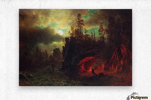 Trapper s camp by Bierstadt  Metal print