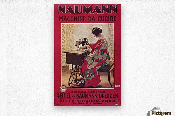 Naumann Sewing Machine  Metal print