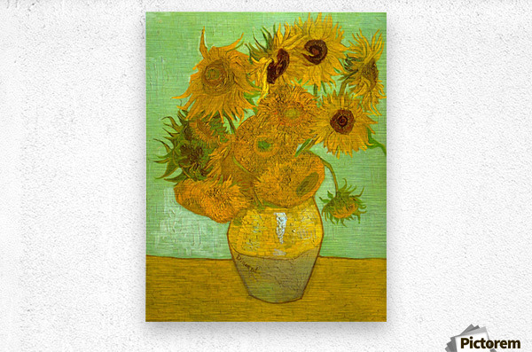 Twelve Sunflowers by Van Gogh  Metal print