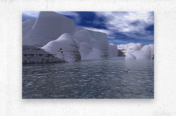 citadelle de glace  Metal print