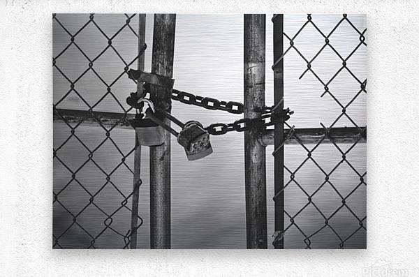Fog Behind The Gate  Metal print