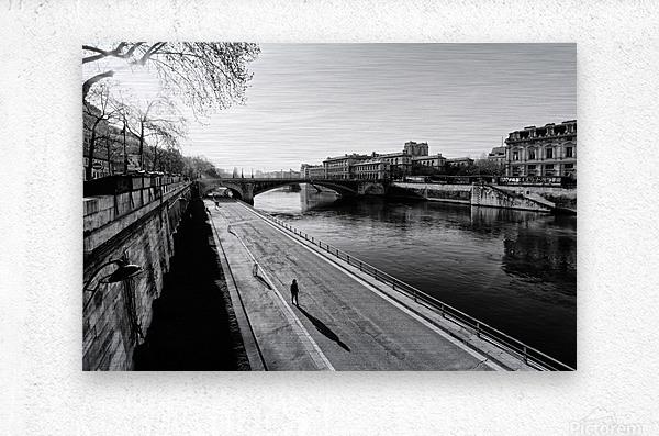 Alone in Paris  Impression metal