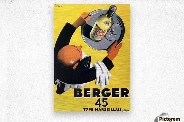 Berger 45 Poster Ad Roland Ansieau 1935  Metal print