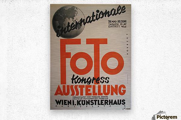 1930 Art Deco Vienna Austria Photography Exhibit Vintage Poster  Metal print