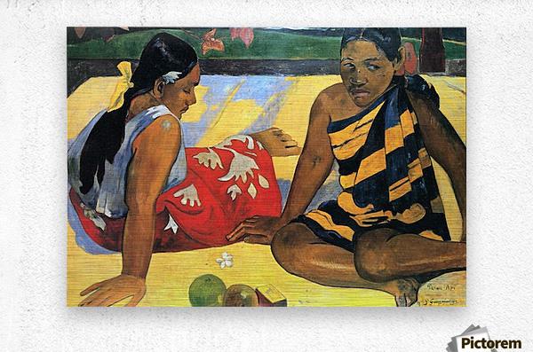 Two Women From Tahiti by Gauguin  Metal print