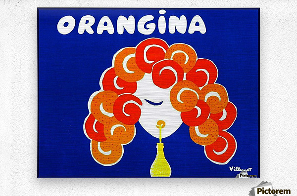 Bernard Villemont Orangina Advertising Poster  Metal print