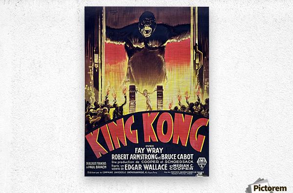 King Kong Vintage Poster  Metal print