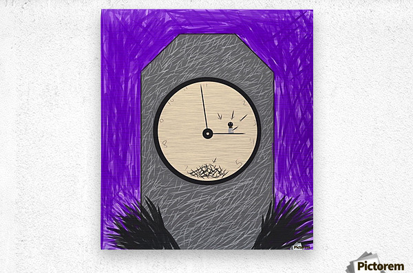 The Constant Bombardment Of Passing Time  Metal print