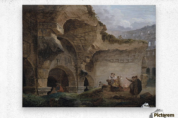 Washerwomen in the Ruins of the Colosseum  Metal print