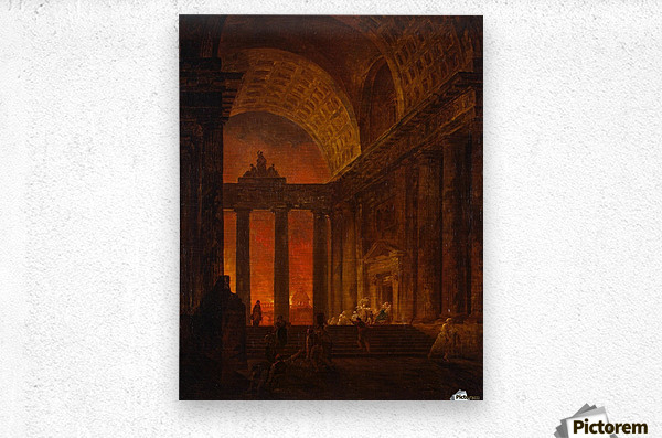 Fire in Rome  Metal print