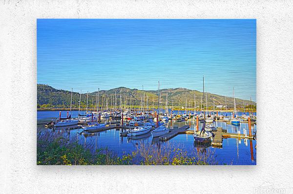 Perfect Day at Hood River Marina   Oregon  Metal print