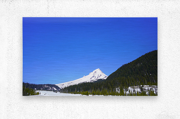 Clear Day in the Mountains - Mount Hood  - Oregon  Metal print
