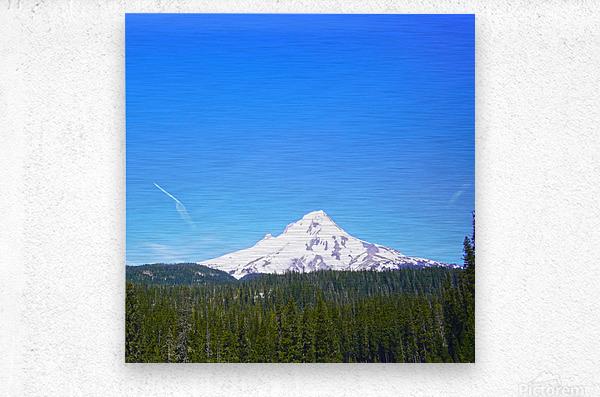 Mount Hood in Spring  Metal print