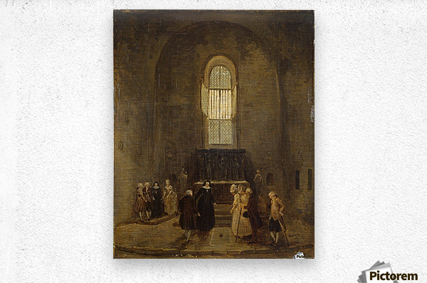 Examining an Old Church  Metal print
