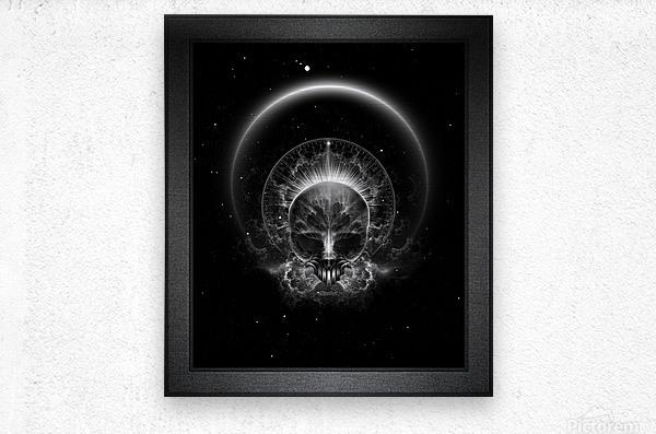 Gothic Skull Blaze Abstract Digital Art Composition  Metal print