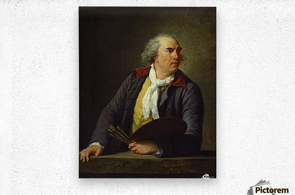 Portrait of Hubert Robert, 1788  Metal print